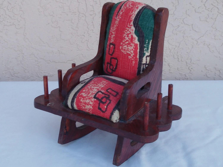 grandma rocking chair swing bedroom vintage wood old granny pin cushion by