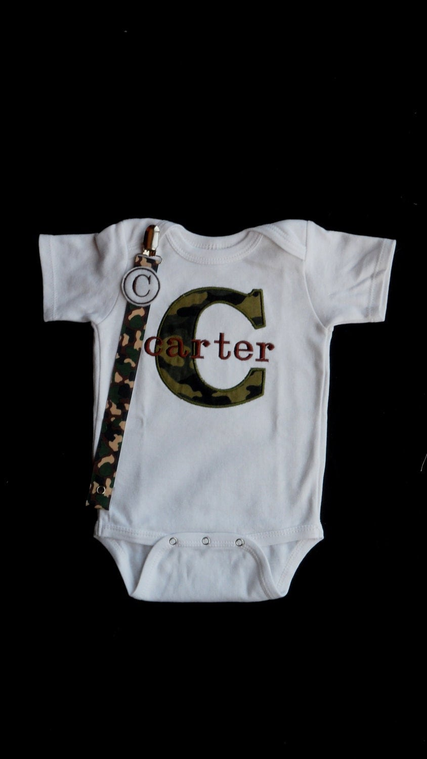 monogrammed baby clothes boy