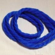 royal blue 70s yarn hair ribbons
