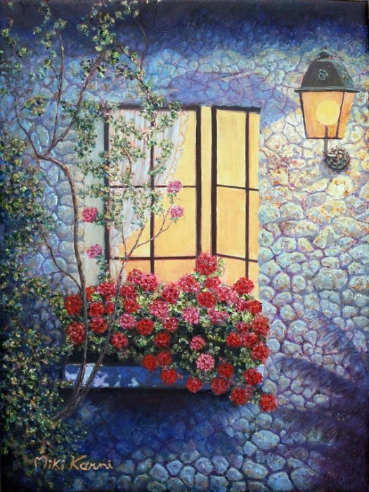 Items Similar To Holiday Eve At Home Sweet Original Oil Painting On Canvas