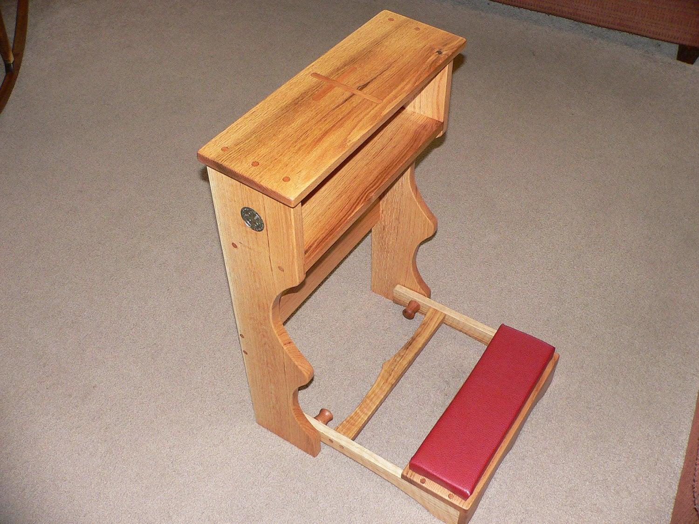 chair with kneeler narrow rocking lovely oak prayer