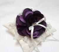 Wedding ring pillow purple wedding ring pillow lace ring