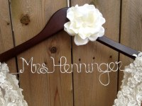 Wedding Dress Hanger Bride Hanger Bridal Hanger By ...