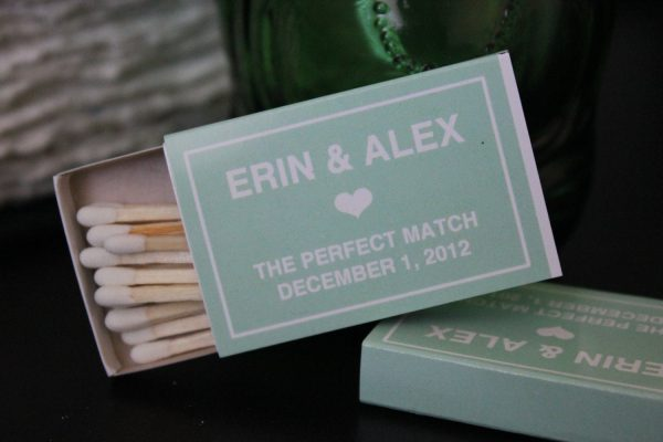 Custom Designed Matchbox Wedding Favors