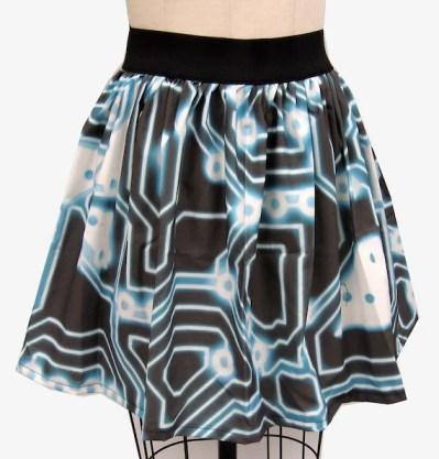 TRON Inspired Full Skirt