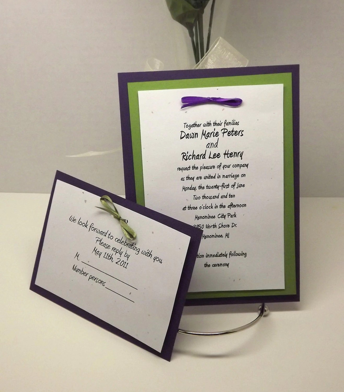 DIY Wedding Invitation Kits with Invitations RSVP and