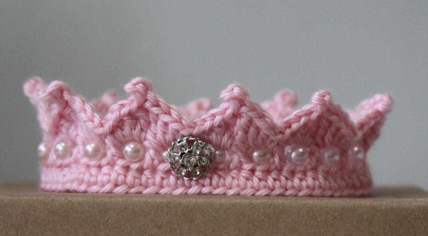 Princess Crown Baby Free Crochet Pattern