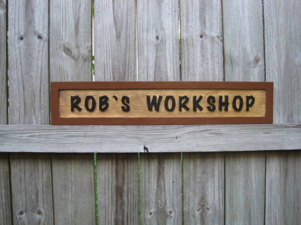 Personalized Workshop Sign Routed