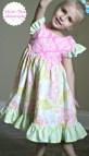 Girls Flutter Sleeve Dress Sewing Patterns
