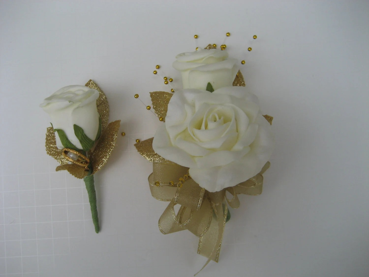 50th Anniversary Corsage And Boutonniere