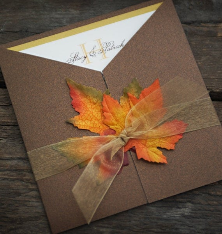 fall wedding invitations templates