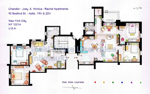 "Monica-Rachel & Chandler-Joey Apartments from ""FRIENDS"" (BIG)"