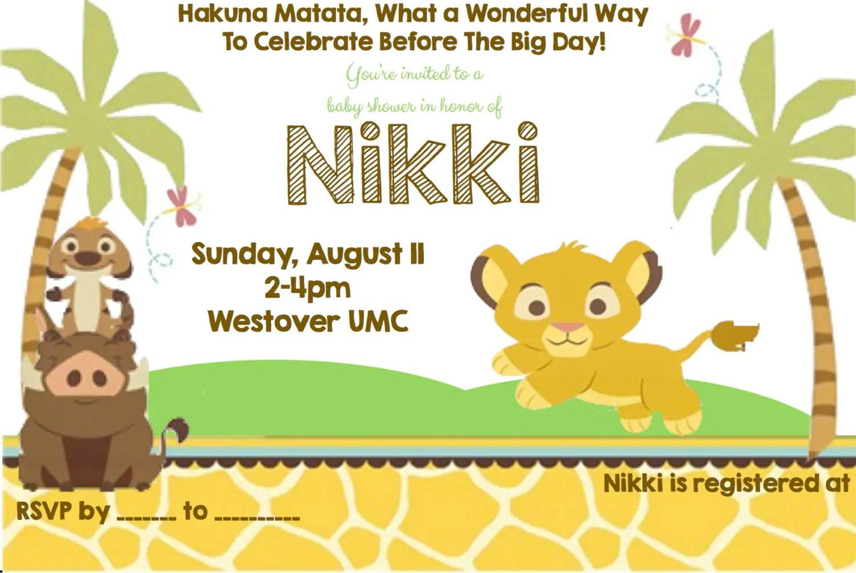 Safari Themed Birthday Invitation Blank Template