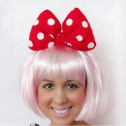 minnie mouse bow red white polkadots