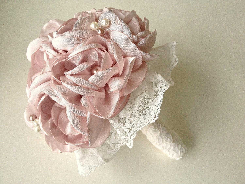 Fabric Rose Bouquet Vintage Weddings Petite Bridal By