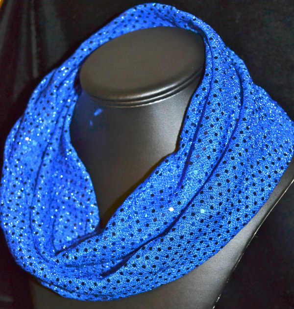 Royal Blue Sequin Infinity Scarf