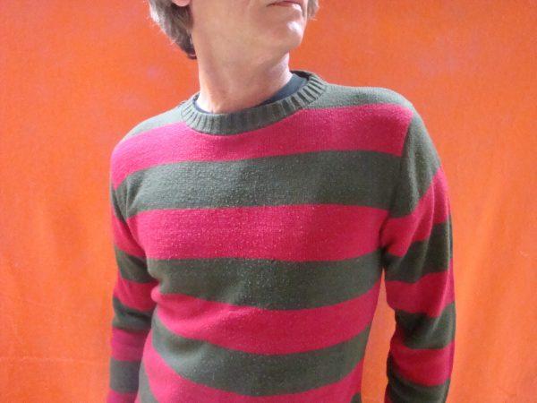 Killer Sweater Freddy Krueger Vintage Red Gray Khaki