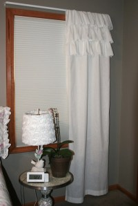 Shabby Chic Shower Curtain Ruffled Farmhouse or by ...
