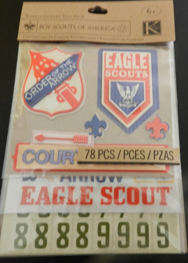 Boy Scouts Scrapbook Card Making Stickers Eagle Scout