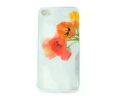 Orange Tulip  IPhone 4  or Iphone 5 Case, Flower Case, Women's Accessory, Original Photograph,  Made to Order - JudyStalus