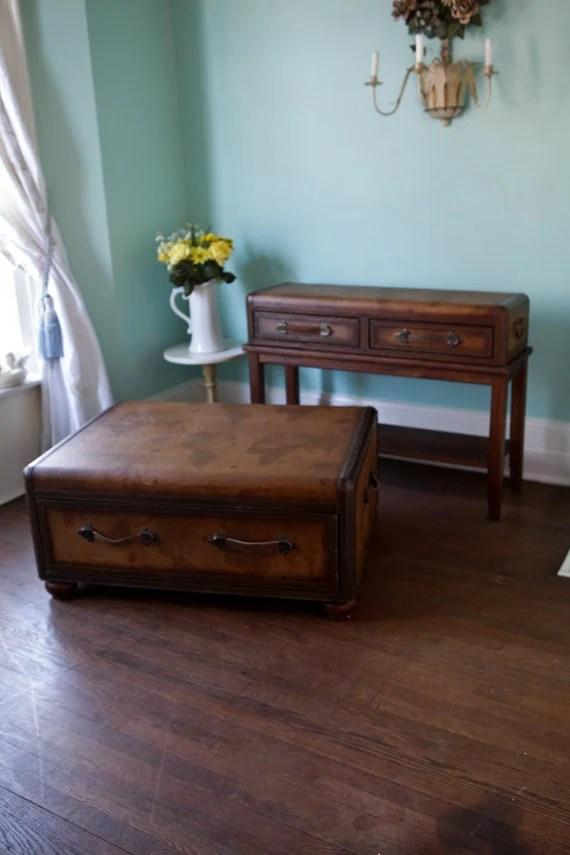 aqua sofa fabric sofas gold coast vintage luggage coffee and table leather maps old world