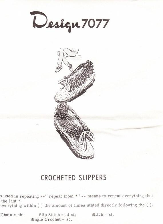 Vintage Mail Order Pattern for Crochet by ilovevintagestuff