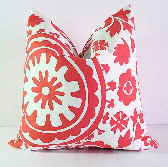 Items similar to CORAL Pillow Cover 26x26 Euro Sham Home Decor SUZANI Accent Pillow 26 Salmon