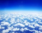 Looking Above the Clouds Photography Print, Blue Sky Photo, White Clouds Nature Wall Art Decor