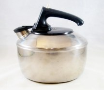 Vintage Kettle Teapot Stainless Steel 1960s 70s