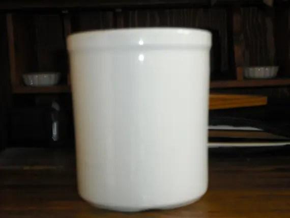 Vintage Hall White Crock PotteryUtensil HolderGadget