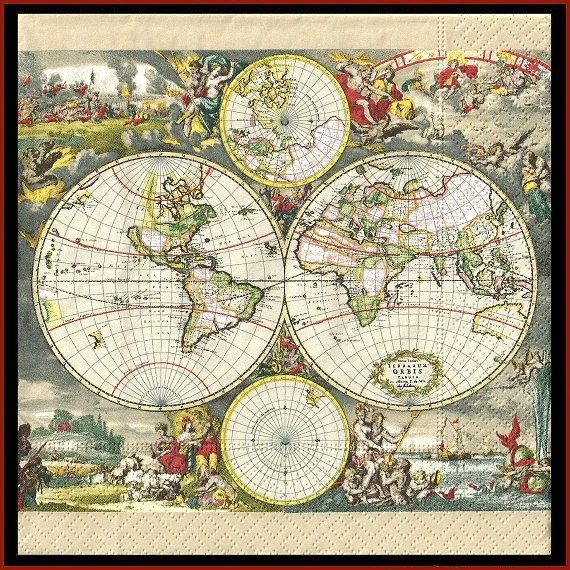 Decoupage Map Paper. Language Families Of The World Map. Map Of ...