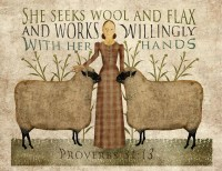 Primitive folk Art, Wool and Flax Art, 8.5x11, download ...