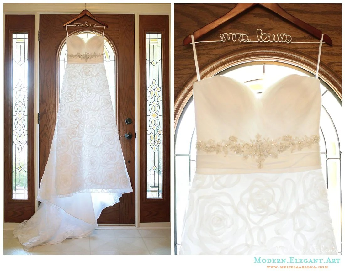 Wedding Dress Hanger Personalized Bride To Be Gift