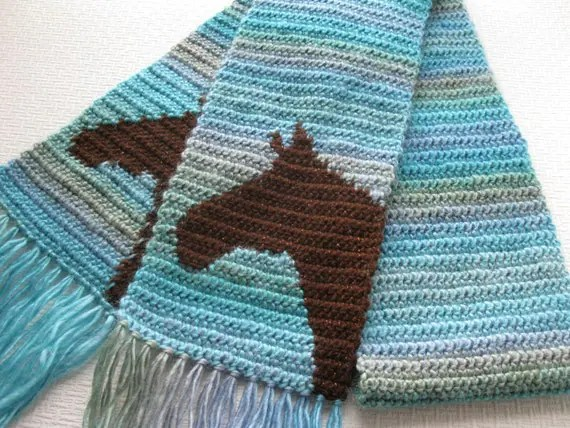 Hand Crochet Scarf Directions