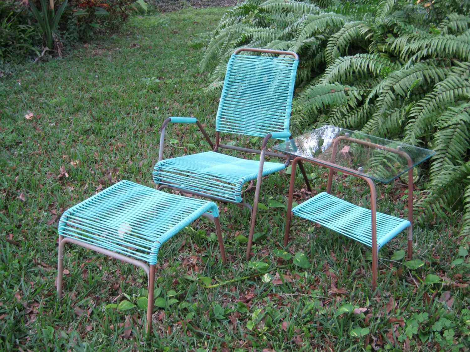 turquoise patio chairs plastic desk chair reserved for mz vintage lawn furniture