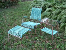 Reserved Mz Vintage Lawn Furniture Turquoise Patio