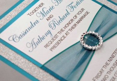 Wedding Invitations Teal