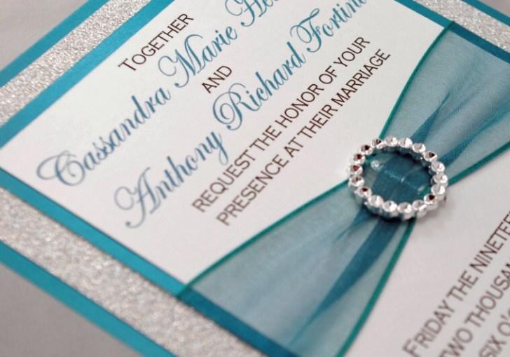 Wedding Invitations Teal