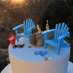 Miniature Adirondack Chairs Ready Assembled Office Beach Theme Wedding Cake Topper Basic Set Only Classic