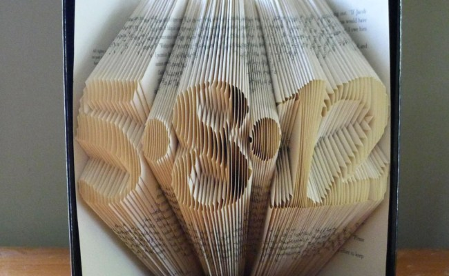 Folded Book Art Anniversary Gift For Him Her By
