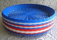 Set of 12 Plastic 1970s Paper Plate Holders by
