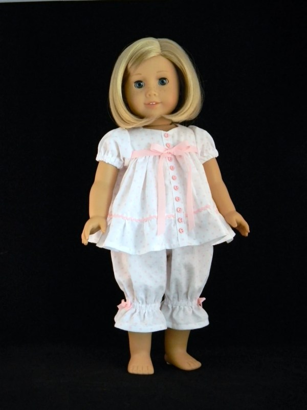 Baby doll pajamas for 18 American Girl Doll An