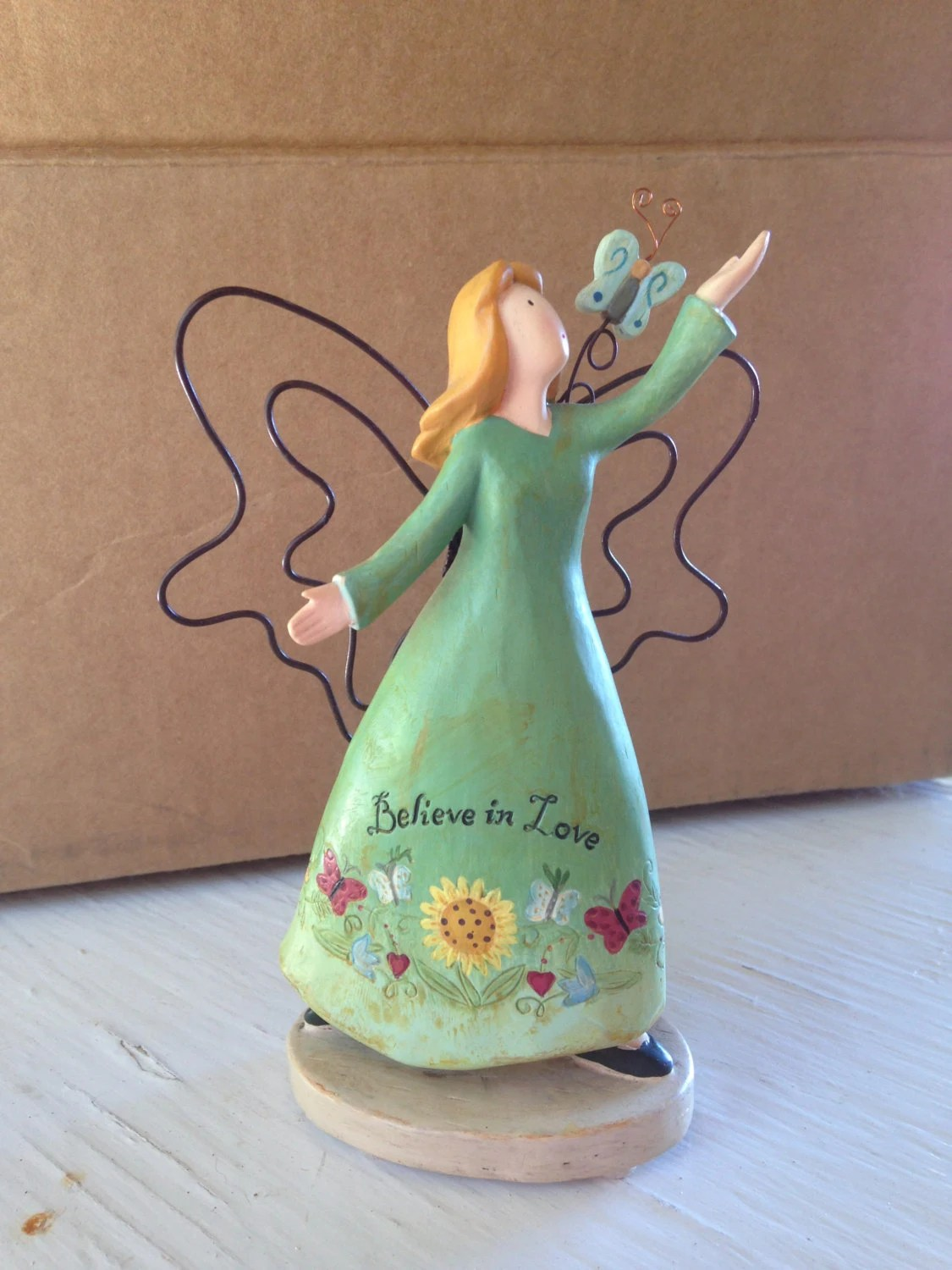 Hand Painted Angel Figurine Russ Berrie  Co by