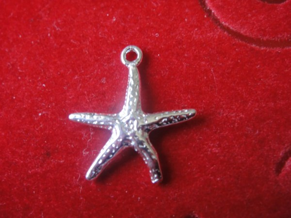 Sterling Silver Starfish Charm 1 Pc