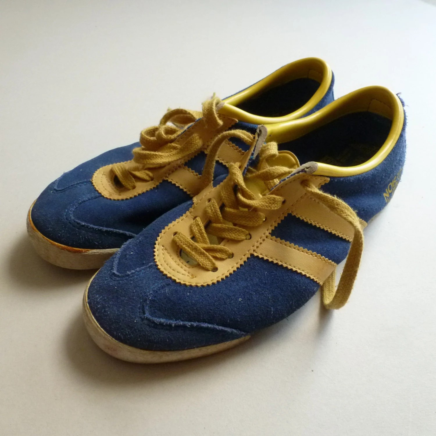 Vintage Running Shoes Blue and Yellow North by