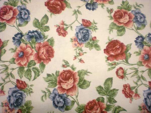 Vintage Floral Chintz Fabric