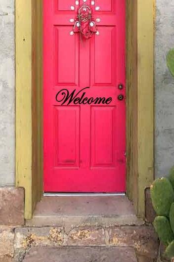 Welcome Front Door Vinyl Decal