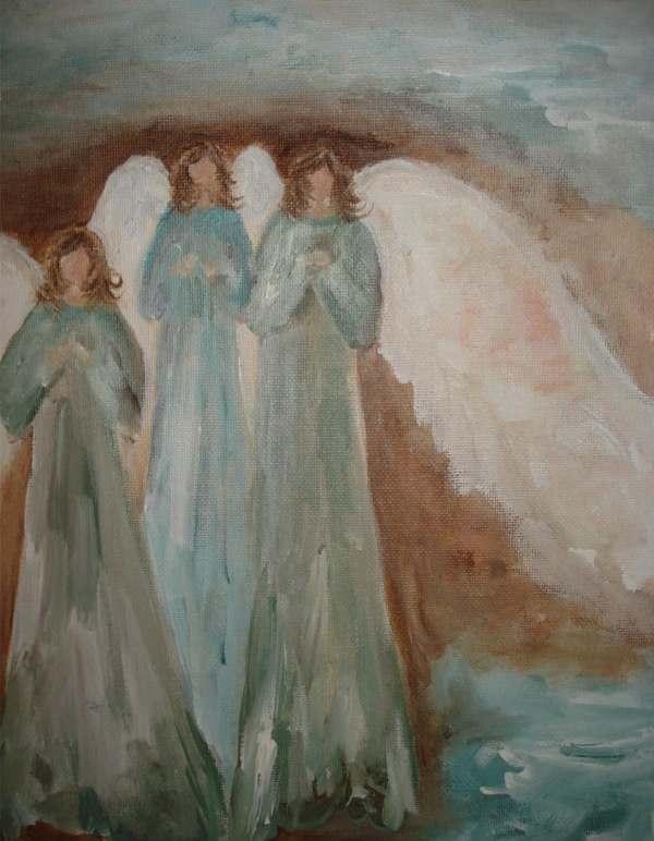 Acrylic Angel Painting