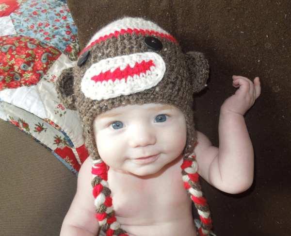 e16a27f7 Sock Monkey Baby Hat - Keep Shopping Online