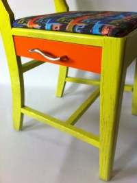 RePurposed Mid century modern sewing chair 30's 40's